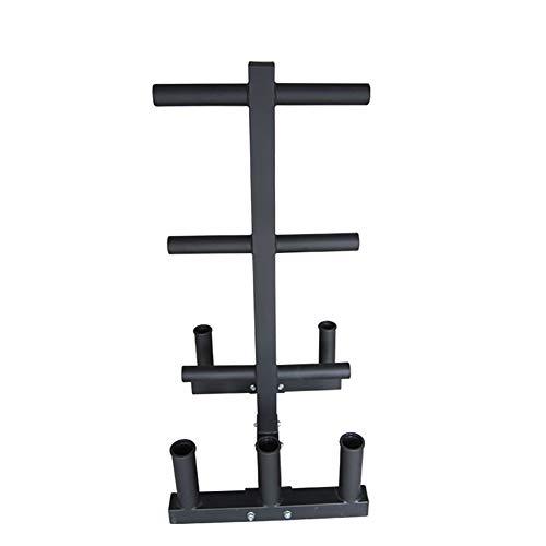 YYLL Lagerregale Barbell Austrian Bar Storage Rack, mit großem Loch Barbell Storage Rack, Gewicht Ständer, Indoor Fitnessgeräte Organizer, Olympic Platten-Rack (Color : Black)
