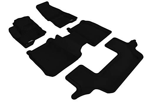 3D MAXpider Complete Set Custom Fit All-Weather Floor Mat for Select Flex Models L1FR05101509 - Kagu Rubber (Black)