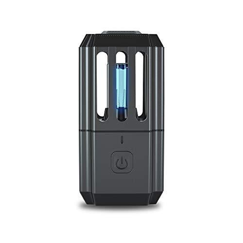 Luxvista UVC Sterilisator Lampe Tragbar UV Ozon Ultraviolett Licht 99.9% Antibakteriell Handy Masken Desinfektion Haushaltssterilisator Taschenlampe Luftreiniger Geruchsbeseitigung für Haus Kabinett