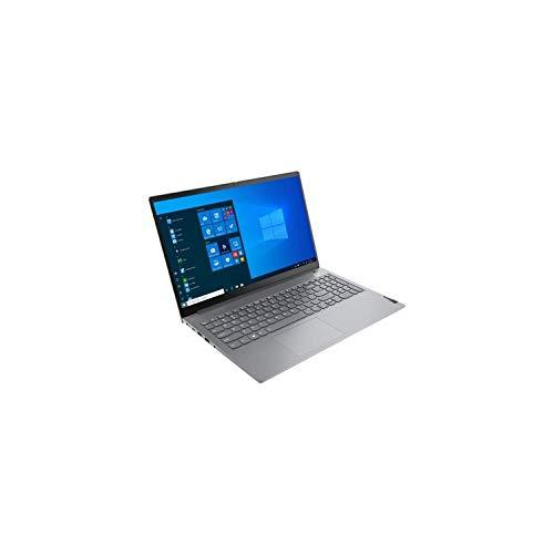 """Lenovo ThinkBook 15 G2 ITL Ordinateur Portable 15,6"""" (Intel Core i3 11e gén, 8 Go RAM, 256 Go SSD, Windows 10 Pro, Gris) - Clavier AZERTY Rétroéclairé"""