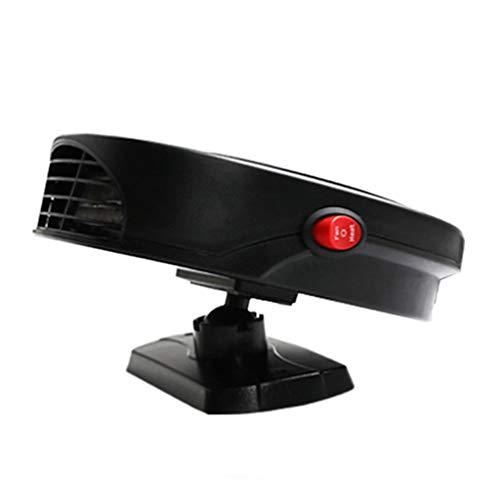 VOSAREA Ventola di riscaldamento portatile per auto, 12 V, riscaldatore elettrico per parabrezza e sbrinamento, riscaldamento rapido per auto e camion