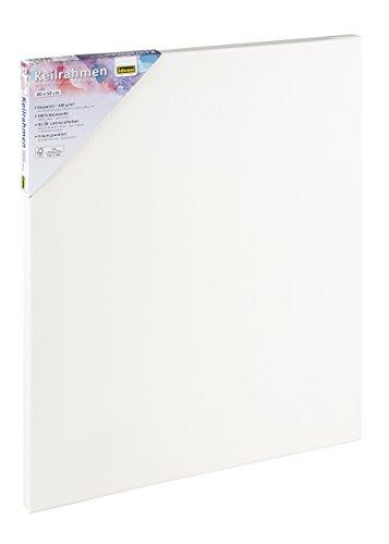 Idena 60033 Keilrahmen mit Leinwand aus 100% Baumwolle, 380 g/m², für Ölund Acrylfarben, 40 x 50 cm, weiß