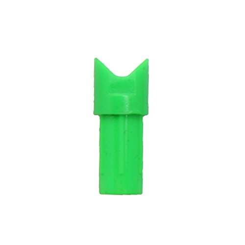 SAS Crossbow Nock Half Moon - Dozen 12/Pack - Made in USA (.303, Neon Green)