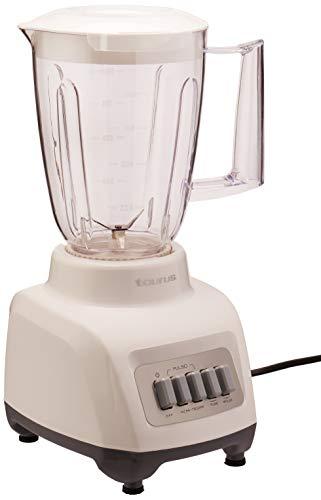Taurus MUSA Licuadora, Vaso de Plástico, color Blanco, 4 Velocidades, 1 l
