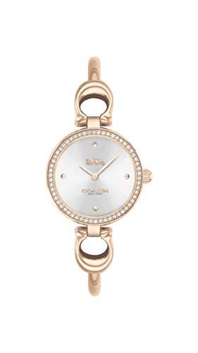 Coach   donne   parco   braccialetto in oro rosa   quadrante argentato  ...
