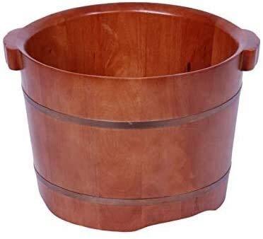 QIANSHI Détails décident la qualité Bain de Pieds Barrel, Barrel Pédicure, Bassin Pieds en Bois, Bassin Pédicure, Pieds en Bois Massif Baignoire, Convient for Hôtels des Pieds, Chaud Partout