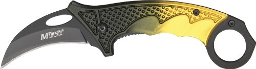 MTECH USA MT-541YL Karambit Knife (5-Inch Closed)
