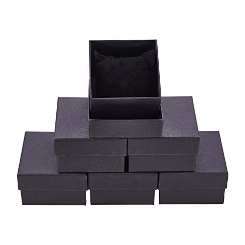 BENECREAT 6 Pack Negra Caja de Cartón Craft con Almohada
