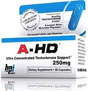 BPI A-HD Androgenic/Anti-Estrogen Testosterone Support Formula, 250mg, 28-Count