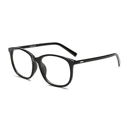 Cyxus Filtro de luz Azul [Mejor Dormir] Gafas de computadora Unisexo(Hombres/Mujeres Bloqueo UV Gafas de Lectura,Lentes Transparentes (Negro Marco)