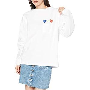 [チャンピオン] ロングTシャツ 綿100% ワンポイントロゴ ロングスリーブTシャツ ウィメンズ CW-T404 ホワイト M