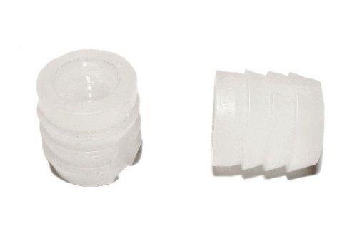 Kunststoff weiß Polyamid M8 10x12 mm - 50 St. - Einleimmuffen Einschlagschrauben