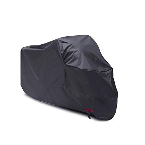 XJZHJXB Motorcycle Cover Compatible with Motorcycle Cover Benelli TRK 502X, 3 Colors 210D Oxford with Lock Outdoor Motorcycle Cover, fit 220-295cm (Color : C, Size : 2XL(265105125CM))