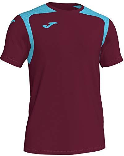 Joma Camiseta Champion V Talla XL, Color Vino, Celeste
