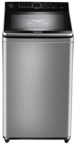 Panasonic 6.7 kg Built-in Heater Fully-Automatic Top Loading Washing Machine (NA-F67V8LRB,Silver,Advanced Active Foam Wash) with Built in Heater, Gentle Hand Wash