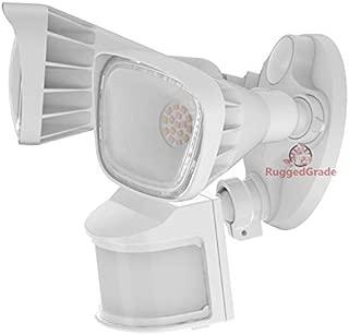 20 Watt LED Motion Sensor Flood Light - White Color - Square Heads - 2400 Lumen - Super Wide 240 Degree Motion Sensor - 5000K Bright White -LED Security Wall Floodlight