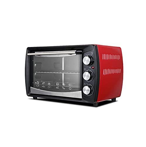 XKUN Horno De Hogares 1400w Multifuncional 20l Horno Eléctrico Ahorro Automático De Ahorro De Energía para Hornear Pan De Pastel De Pan De Pizza-Rojo