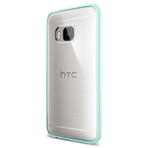 Spigen Schutzhülle HTC One M9 Hülle ULTRA HYBRID [Air Cushion-Technologie zur Stoßdämpfung] - Tasche für HTC One M9, transparente Rückschale - mint [Mint - SGP11453]