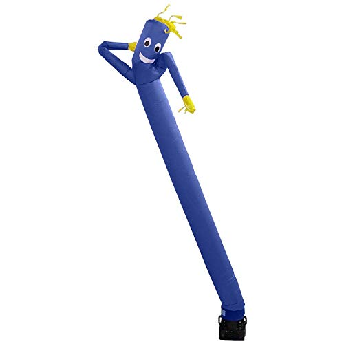 SKyerz Wacky Waving Inflatable Tube Man. Arm Flailing Advertising Sky Air Puppet with Blower - 20 Feet, Blue