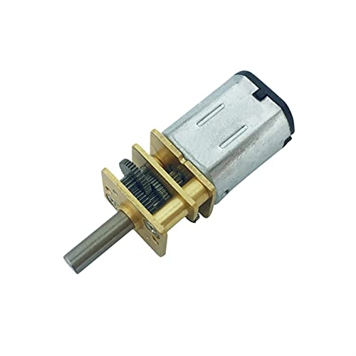 Argerrant 1 stück dc n20 3V / 6V / 12V Geschwindigkeit 15 RPM bis 6000 RPM Getriebemotor 3mm Welle Micro Metal Getriebemotor mit Zahnrad DC Motoren Mini Elektromotor (Farbe : 300rpm, Größe : 6V)