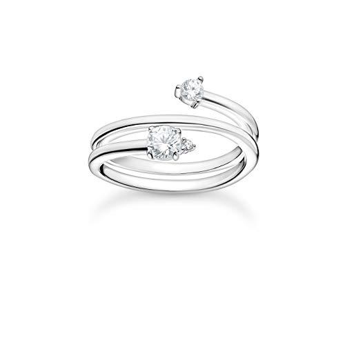 THOMAS SABO Damen Ring Pfeil weiße Steine Silber 925 Sterlingsilber TR2357-051-14