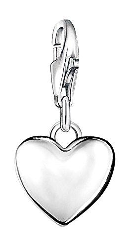 Thomas Sabo Damen-Charm-Anhänger Herz Charm Club 925 Sterling Silber 0913-001-12