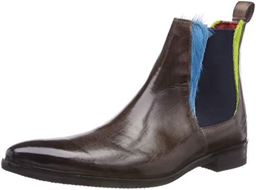 Melvin & Hamilton Herren Toni 6 Chelsea Boots, Mehrfarbig (Crust/Hairon/Stone (1,3) / Ice Blue (2) / Greeen (4) / Ela Navy/Modica Navy), 43 EU