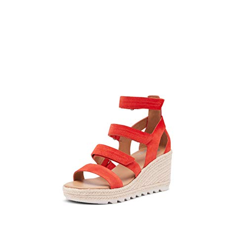 Sorel Women's Cameron Wedge Multi Strap Sandal - Signal Red - Size 6.5