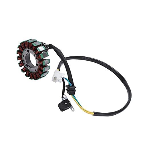 XINGFUQY Generador del alternador de la Motocicleta Ajuste para Suzuki GN250 GN 250 Neto Stator Neto Bobina 250cc coils (Color : Black)