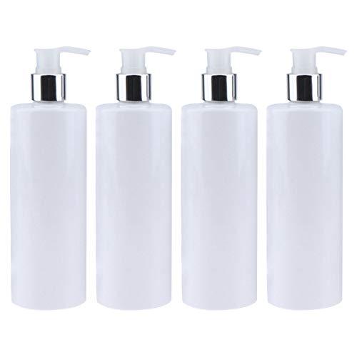 Kitchnexus Leer Flasche Seifenspender 350 ml 4 Stücke, Lotionspender Pumpflasche für Shampoo Liquid Seife