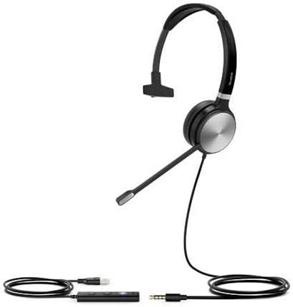 2021 Yealink UH36-MONO UH36 popular Mono Wired USB Headset - outlet online sale USB 2.0, 3.5mm Jack, Certified for use with Microsoft Teams online sale