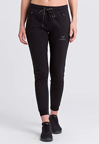 ERIMA Damen Hose Essential Sweathose, schwarz, 38, 2101813