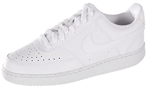 Nike Court Vision Lo Be, Zapatillas para Caminar Hombre, White/White-White, 45 EU