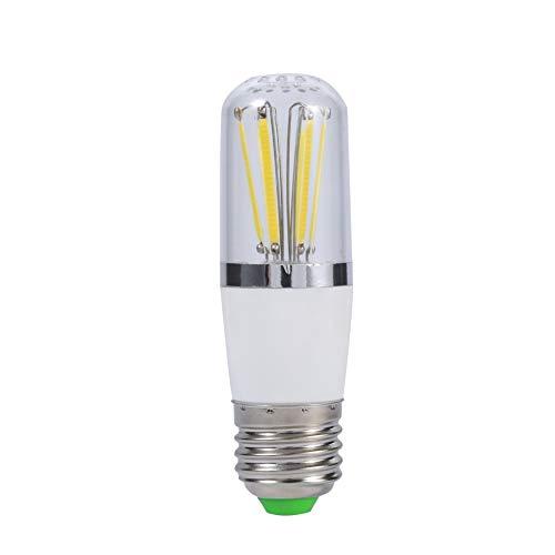 Bombilla de filamento LED, 12V tornillo Socket E27 de ahorro de energía Brillante Techo de techo Lámpara colgante Lámpara de reemplazo de lámpara Durabilidad 30.000 horas(Cool White 6W 6000K~6500K)