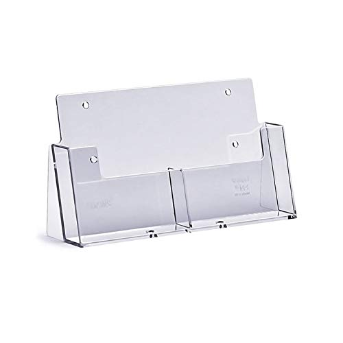 taymar DIN A6 Prospektständer mit 2 Fächern, transparent