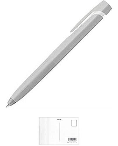 ゼブラ エマルジョンボールペン ブレン blen 0.7mm 軸グレー インク黒 BA88-GR 【× 7 本 】 + 画材屋ドットコム ポストカードA