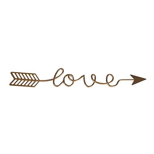 Rayher Hobby 46199616 Déco métallique Ecriture Love, Or, 24x3,2x0,2cm