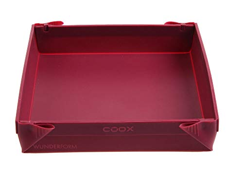 Wunderform Silikonbackform Coox - 24 x 24 x 4,5 cm dunkelrot