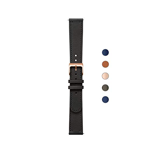 Nokia health Erwachsene Lederarmband, Black, 18 mm