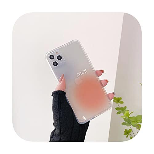 Transparente Handy-Schutzhülle für iPhone 12 11 Pro XS Max Mini X XR 7 8 Plus SE2, modischer Fotorahmen, weiche TPU-Hülle, Orange für iPhone 8 Plus