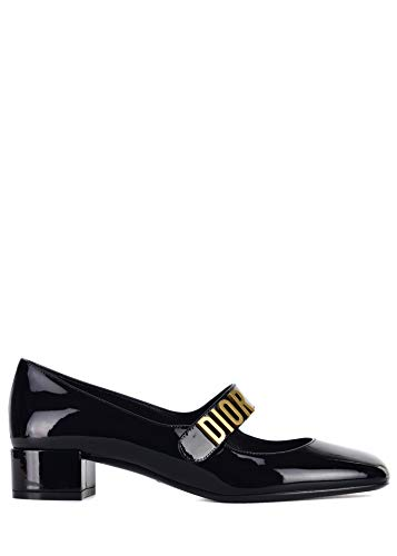 Dior Womens Black Baby-D Patent Leather Strap Pumps Size IT39/US9~RTL$950