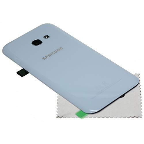 Tapa de batería para Samsung Original para Samsung Galaxy A5 2017 (A520F) Azul con mungoo Pantalla paño de Limpieza