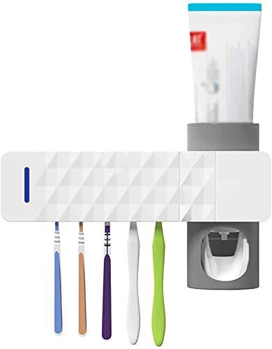UV Tandenborstel Houder, Automatische Tandpasta Houder Desinfectie, Hangend Tandpasta Knijper Kit, USB Voeding