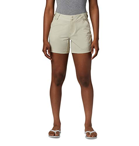 Columbia Women's PFG Coral Point III Shorts, Sun Protection,Fossil,6W x 7L