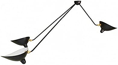 GOWE Serge Mouille Three 3 Arms Spider Ceiling Lamp industrial light contemporary lighting body color:black