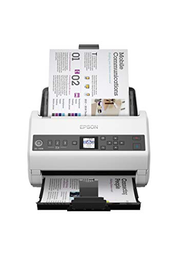 Epson DS-730N Network Color Document Scanner, 100-page Auto Document Feeder (ADF), Duplex Scanning