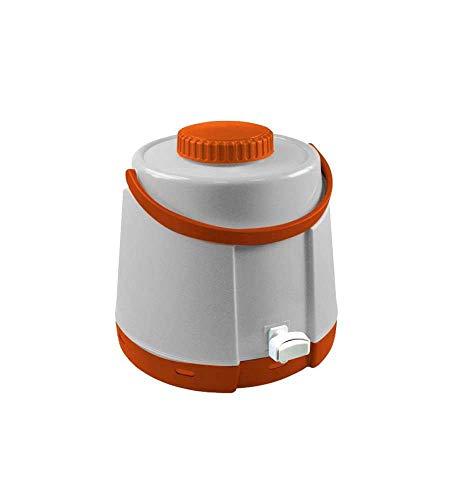 GiòStyle Dispenser Termico con Rubinetto Thermos Bottiglia 5 Litri Erogatore Acqua Bevande Calde Fredde Portatile in Poliuretano con Manico per Spiaggia Mare Campeggio