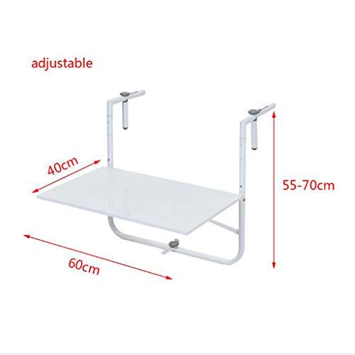 Folding table Wandbalkon Klapptisch, Eisenregale, Schreibtisch, Garten Freizeit Tisch, Terrasse Geländer Tisch hängen, höhenverstellbar