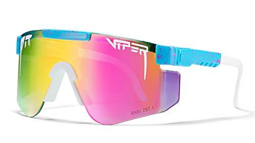 Hombres Polarizadas Gafas De Sol Deportivas, Gafas De Ciclismo UV400 para Mujer Ciclismo Escalada Pesca Golf F