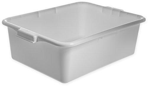 Carlisle N4401102 Comfort Curve Ergonomic Wash Basin Tote Box, 7' Deep, White (Pack of 12)